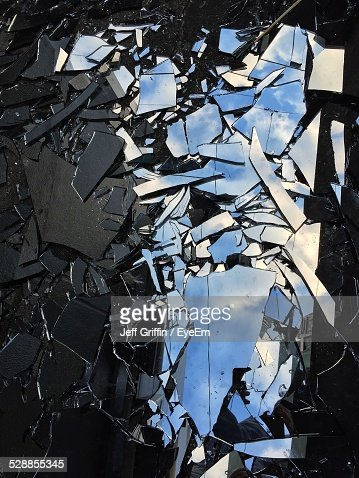 Broken Mirror On Street