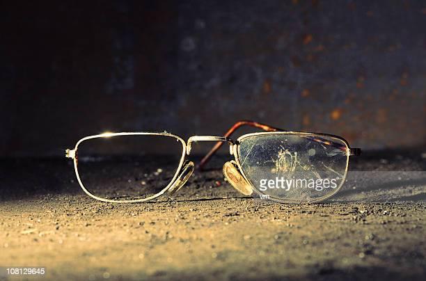 Broken Old-fashioned Male Glasses