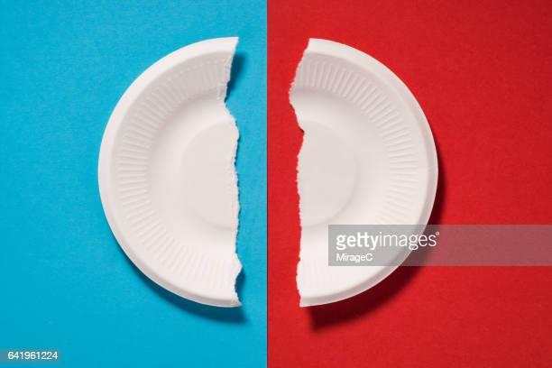 A Broken Paper Plate