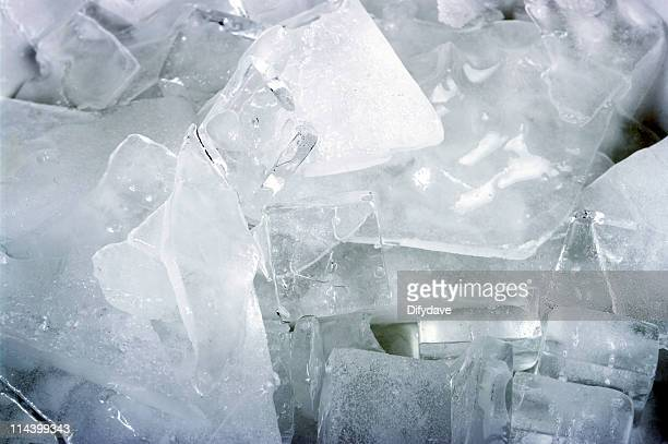 Broken Pieces Of Ice As A Background