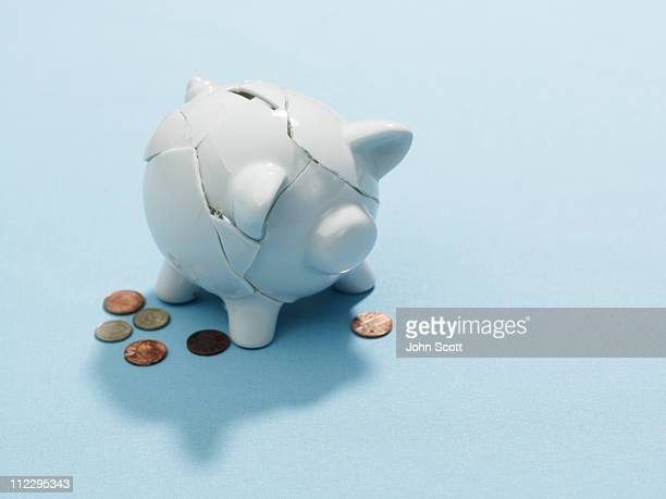 A broken piggy bank