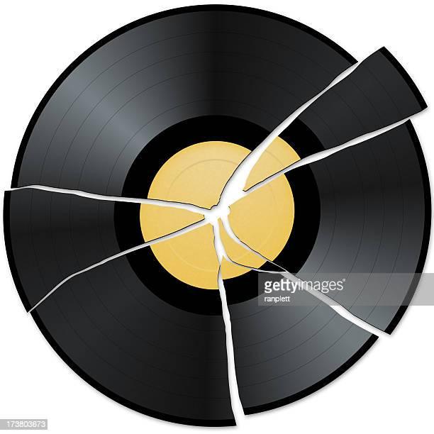 Broken Rekord mit leeren Label