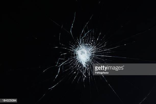 Broken safety glass