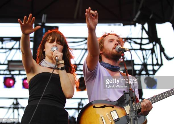Broken Social Scene during 2006 Lollapalooza Day 3 at Grant Park in Chicago Illinois United States