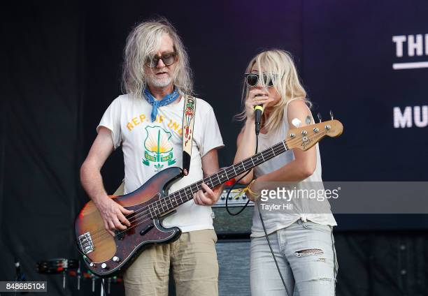 Broken Social Scene performs onstage during Day 3 at The Meadows Music Arts Festival at Citi Field on September 17 2017 in New York City