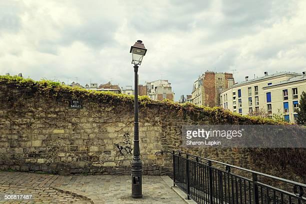 Broken street lantern in Montmartre