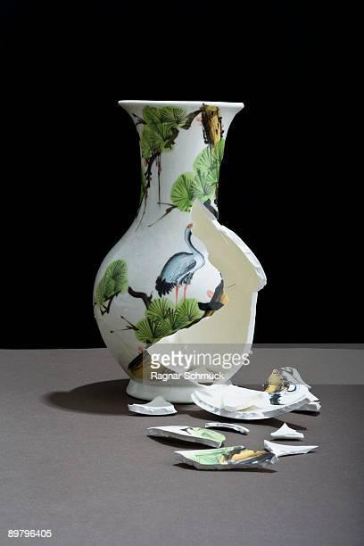 A broken vase