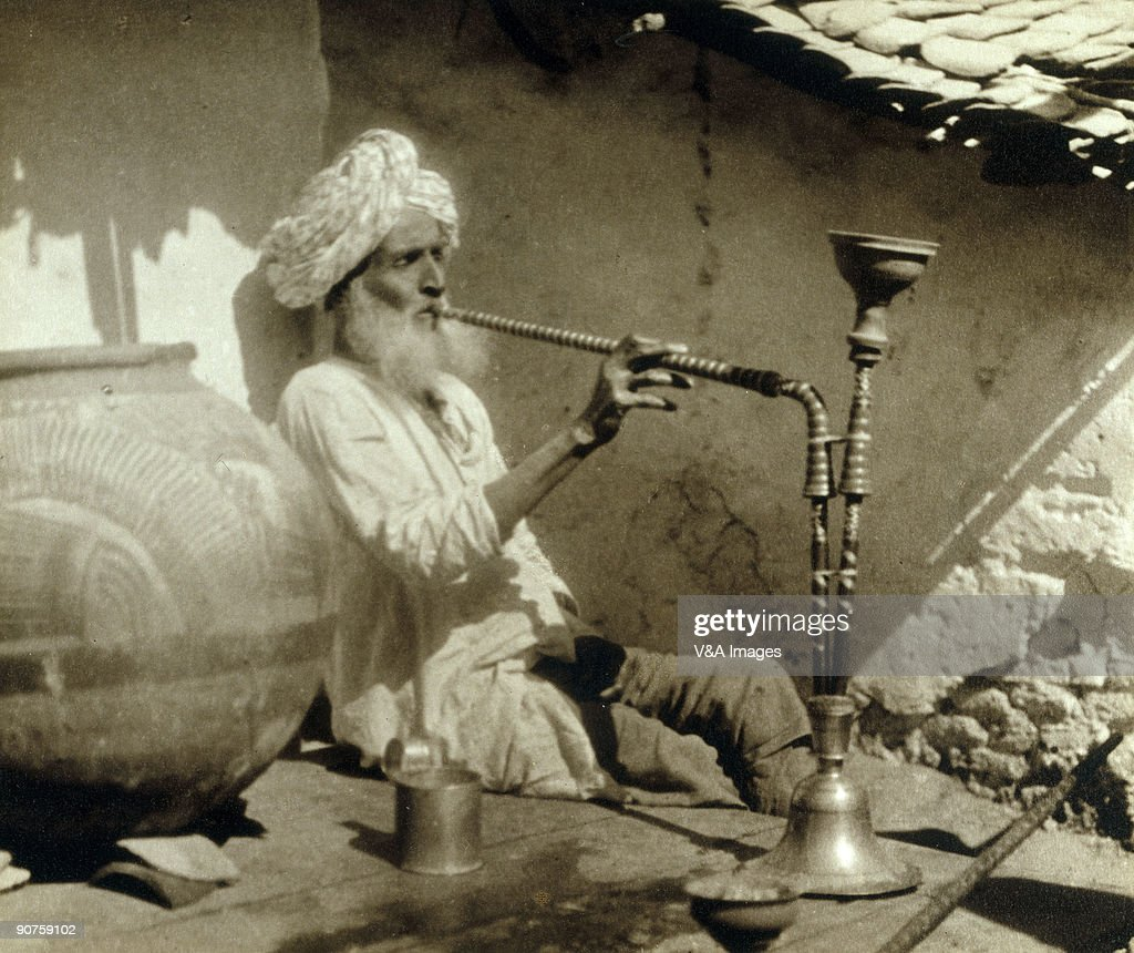 Fish aquarium jabalpur - Bromide Print Photograph By Ernest R Ashton Of An Elderly Man Smoking A Hookah In
