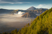 Bromo mountain landscape in the morning
