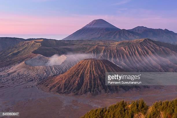 Bromo volcano mountain in the morning