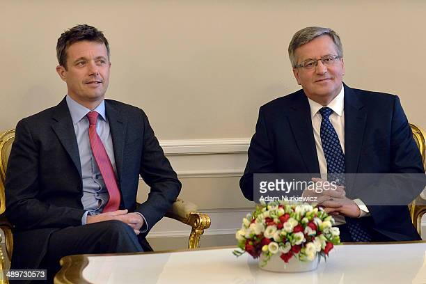 Bronislaw Komorowski President of Poland and Frederik Crown Prince of Denmark meet in the Presidential Palace at on May 12 2014 in Warsaw Poland