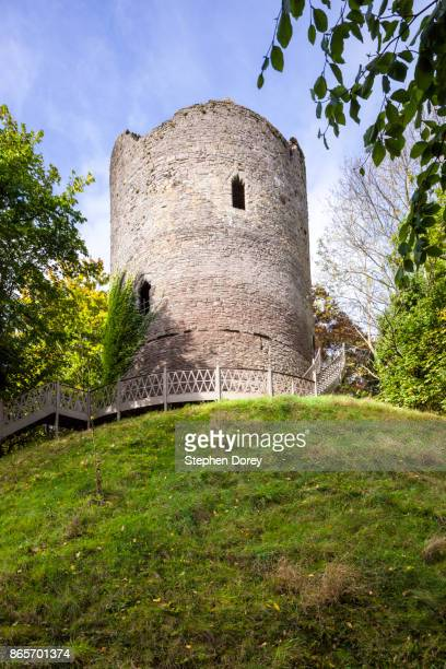 Bronllys Castle in the Brecon Beacons, Powys, Wales UK