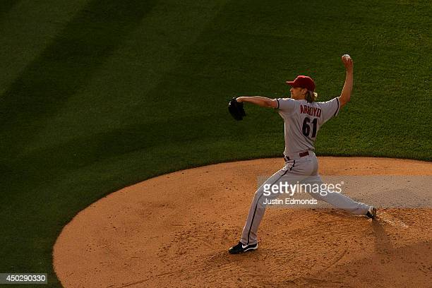 Bronson Arroyo of the Arizona Diamondbacks pitches against the Colorado Rockies at Coors Field on June 5 2014 in Denver Colorado