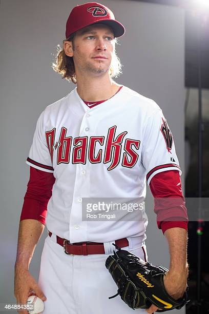 Bronson Arroyo of the Arizona Diamondbacks poses during photo day at Salt River Fields at Talking Stick on March 1 2015 in Scottsdale Arizona