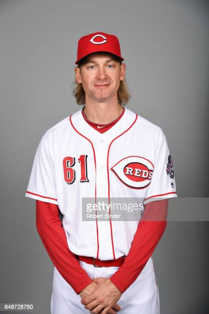 Bronson Arroyo of the Cincinnati Reds poses during Photo Day on Saturday February 18 2017 at Goodyear Ballpark in Goodyear Arizona