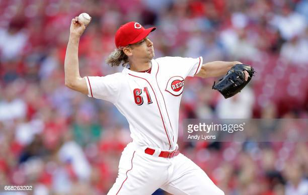 Bronson Arroyo of the Cincinnati Reds throws a pitch against the Milwaukee Brewers at Great American Ball Park on April 13 2017 in Cincinnati Ohio