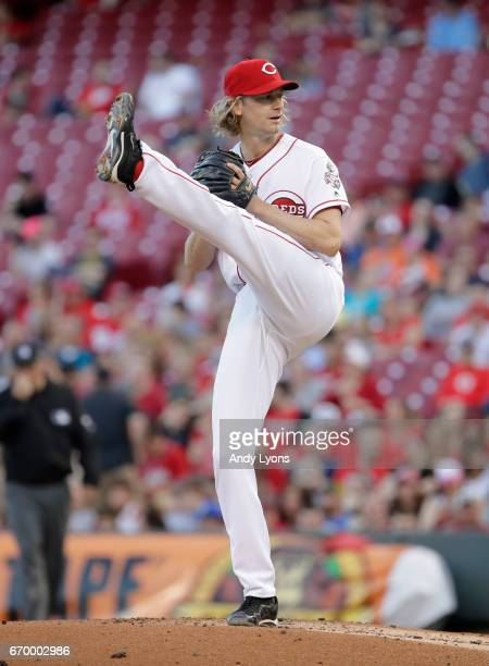 Bronson Arroyo of the Cincinnati Reds throws a pitch against the Baltimore Orioles at Great American Ball Park on April 18 2017 in Cincinnati Ohio