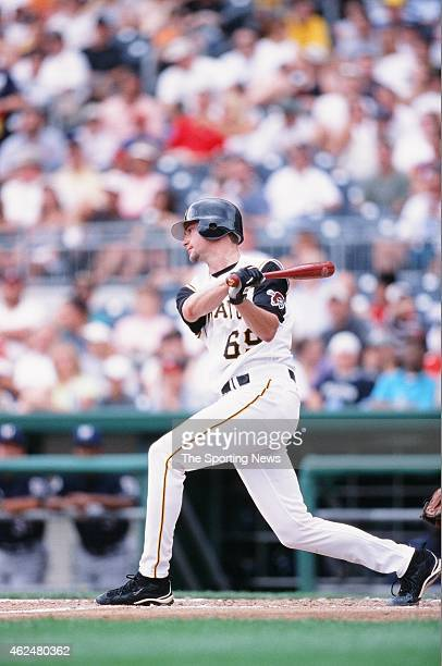 Bronson Arroyo of the Pittsburgh Pirates bats during a game against the Milwaukee Brewers at PNC Park on August 18 2002 in Pittsburgh Pennsylvania