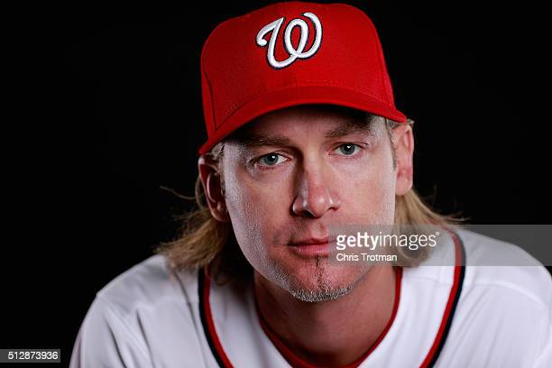 Bronson Arroyo of the Washington Nationals poses for a portrait at Spring Training photo day at Space Coast Stadium on February 28 2016 in Viera...