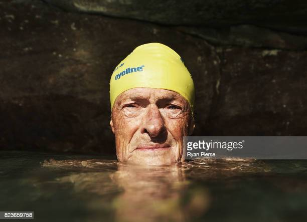 Bronte Splashers member Dave Magnussen poses at Bronte Pool on July 16 2017 in Sydney Australia At 81 years old Dave Magnussen is the oldest current...