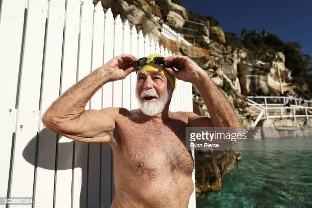 Bronte Splashers Swimming Club member prepares to race at Bronte Poolon July 09 2017 in Sydney Australia Founded in 1921 the Bronte Splashers...