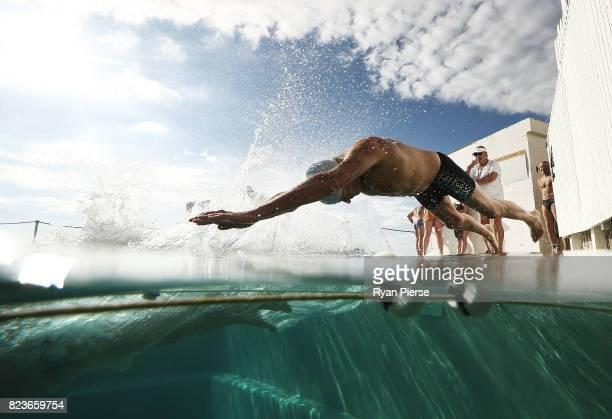 Bronte Splashers Swimming Club members compete at Bronte Pool on July 16 2017 in Sydney Australia Founded in 1921 the Bronte Splashers Swimming Club...