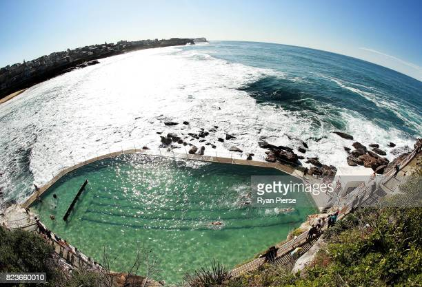 Bronte Splashers Swimming Club members compete at Bronte Pool on July 23 2017 in Sydney Australia Founded in 1921 the Bronte Splashers Swimming Club...
