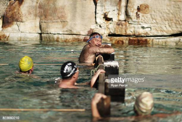 Bronte Splashers Swimming Club members compete at Bronte Pool on July 09 2017 in Sydney Australia Founded in 1921 the Bronte Splashers Swimming Club...