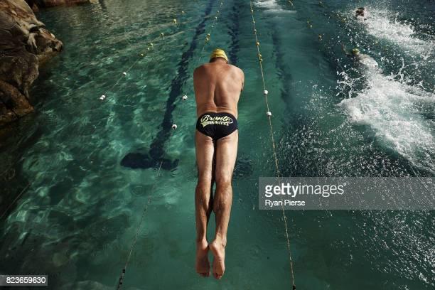 Bronte Splashers Swimming Club members compete at Bronte Pool on June 25 2017 in Sydney Australia Founded in 1921 the Bronte Splashers Swimming Club...