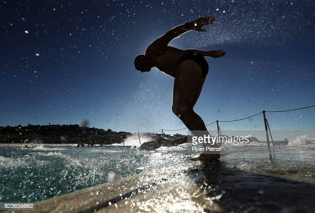 Bronte Splashers Swimming Club members compete at Bronte Pool on June 25 2017 in Sydney Australia Founded in 1921 the Bronte Splashers Swimming Club...