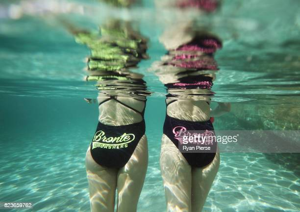 Bronte Splashers Swimming Club members recover after a race at Bronte Pool on July 16 2017 in Sydney Australia Founded in 1921 the Bronte Splashers...