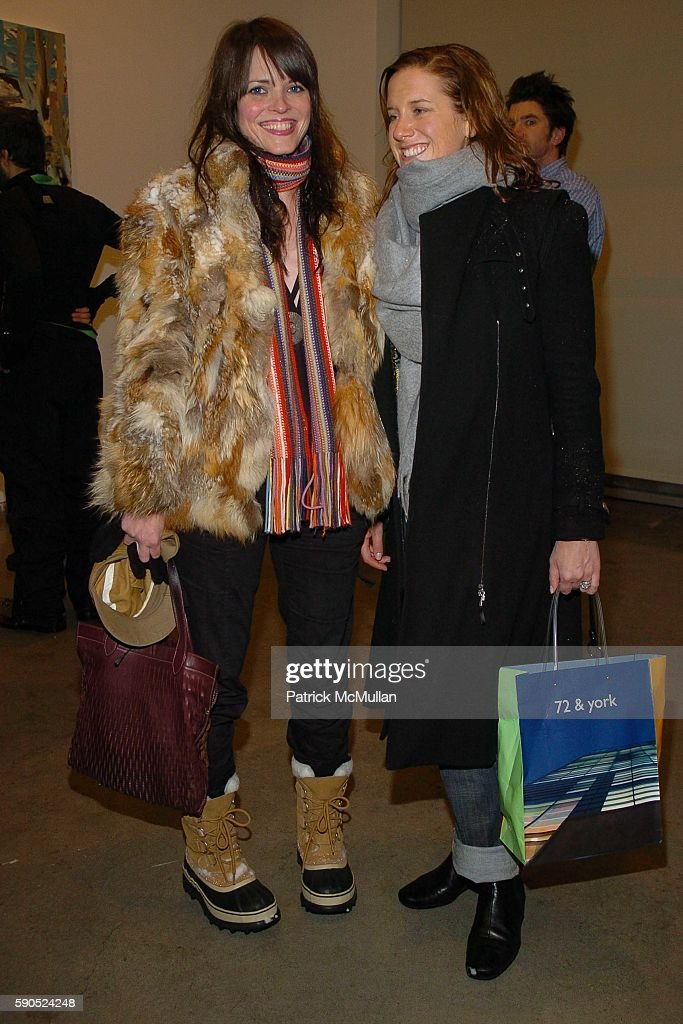 Bronwyn Keenan and Jessie Washburn Harris attend Opening Reception for Cecily Brown at The Gagosian Gallery on January 22 2005 in New York City
