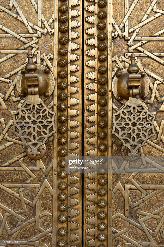 Bronze doors of the Royal Palace in Fes Morocco & The Bronze Doors Stock Photos and Pictures | Getty Images Pezcame.Com