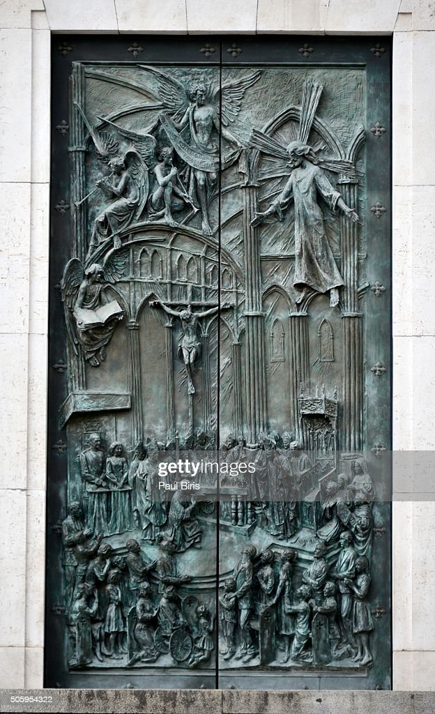 Bronze Doors To The Cathedral Of Our Lady Of Almudena Madrid Spain : Stock & Bronze Doors To The Cathedral Of Our Lady Of Almudena Madrid Spain ... Pezcame.Com