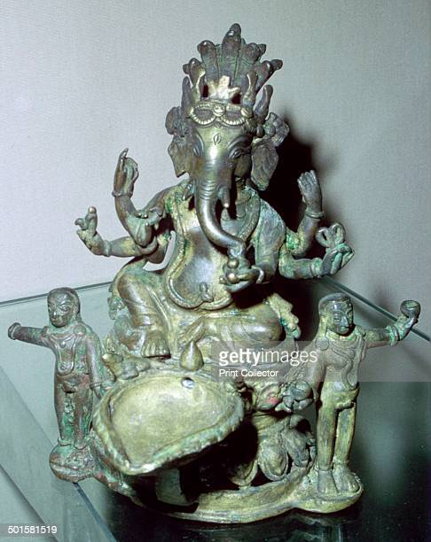 A bronze figure of the Hindu god Ganesh from Nepal