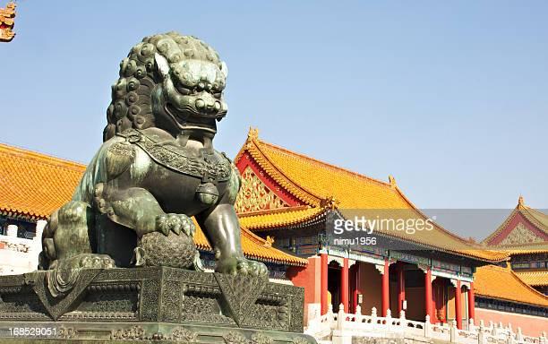 Bronze lion in The Forbidden City. Beijing. China