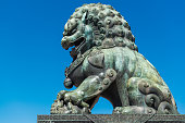 Bronze Lion Statue in the Forbidden City