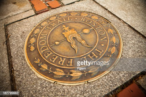 Bronze marker on the Freedom Trail