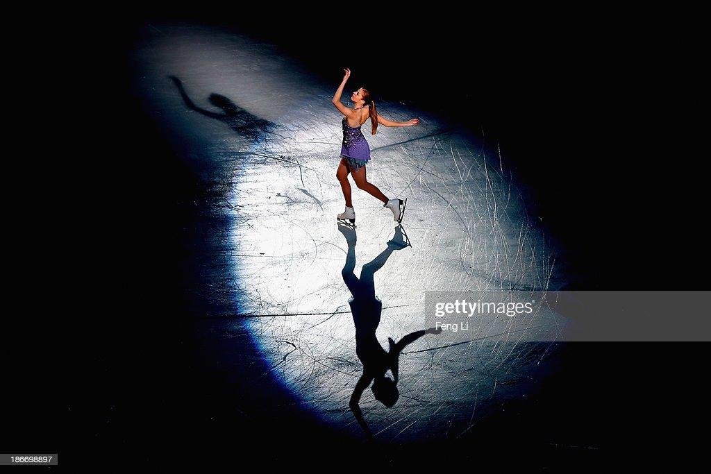 Bronze medalist Carolina Kostner of Italy performs during Lexus Cup of China ISU Grand Prix of Figure Skating 2013 at Beijing Capital Gymnasium on November 3, 2013 in Beijing, China.