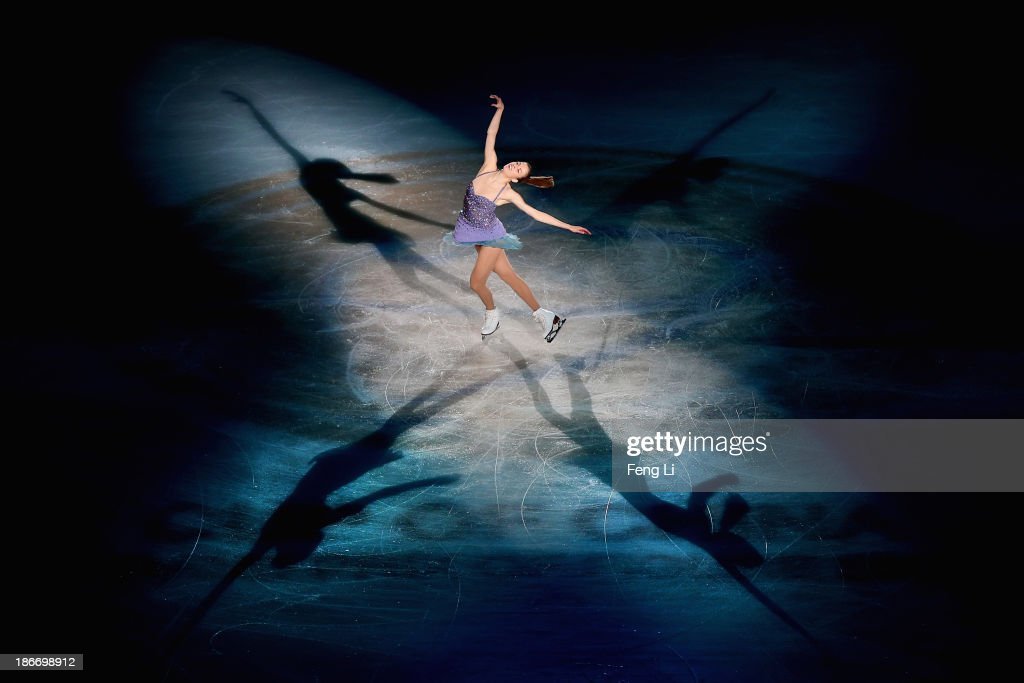 Bronze medalist Carolina Kostner of Italy performs during Lexus Cup of China ISU Grand Prix of Figure Skating 2013 at Beijing Capital Gymnasium on November 3, 2013 in Beijing, China.