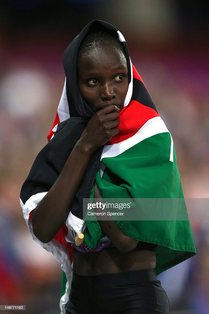 Bronze medalist Jepkemoi Cheruiyot of Kenya looks on after the Women's 10,000m Final on Day 7 of the London 2012 Olympic Games at Olympic Stadium on August 3, 2012 in London, England.