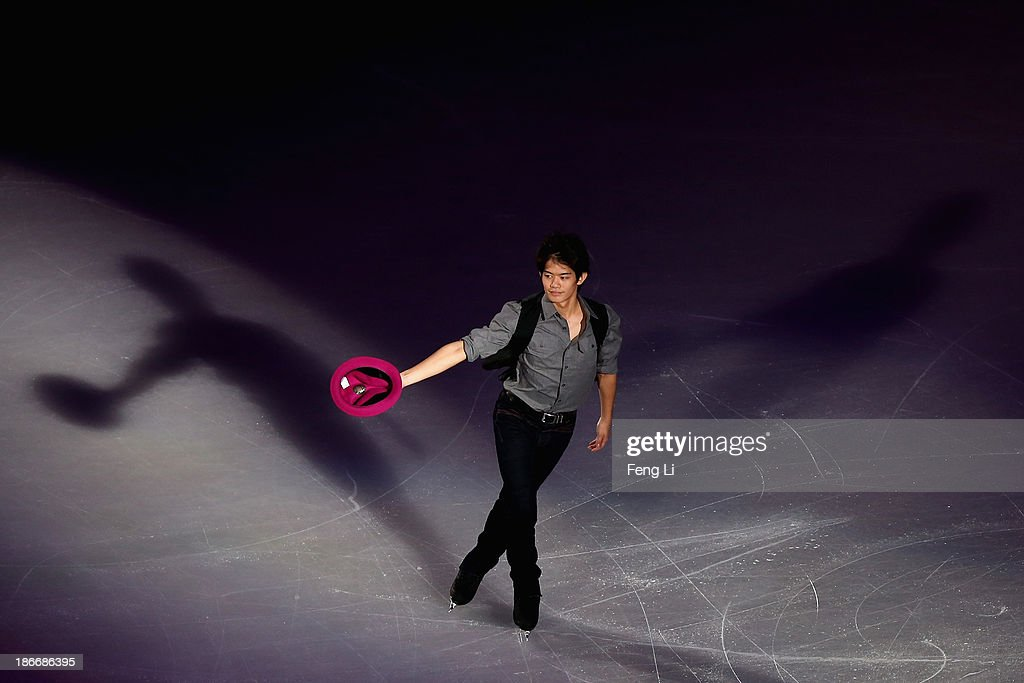 Bronze medalist Takahiko Kozuka of Japan performs during Lexus Cup of China ISU Grand Prix of Figure Skating 2013 at Beijing Capital Gymnasium on November 3, 2013 in Beijing, China.