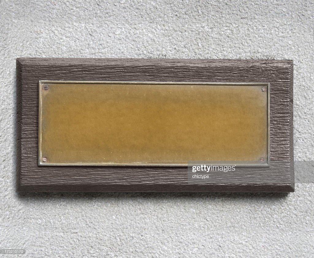 Bronze Plate : Stock Photo