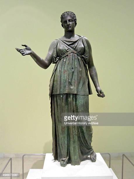 Bronze statue of Artemis Archaeological Museum Piraeus Greece