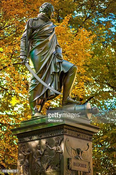 Bronze statue of Blucher