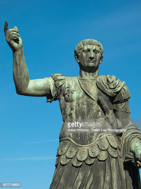Bronze Statue of Ceasar near the Forum in Rome