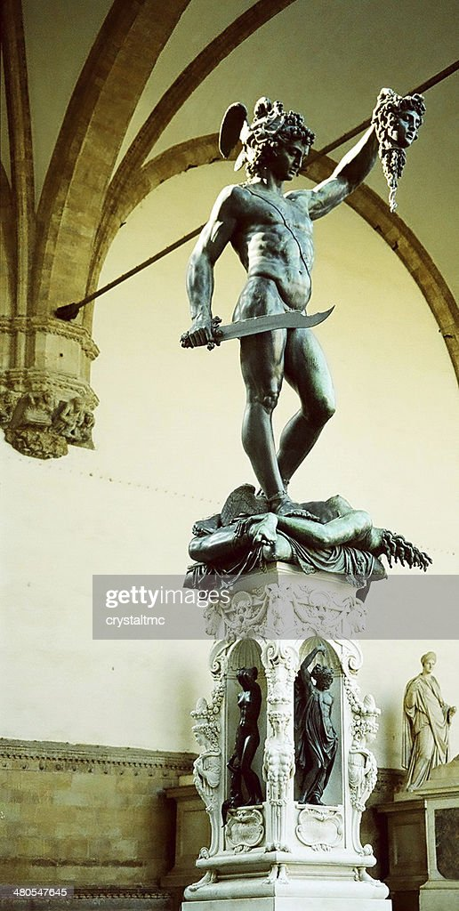 Bronzestatue von Perseus : Stock-Foto