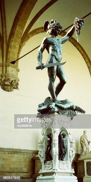 Estátua de Bronze de Perseu : Foto de stock