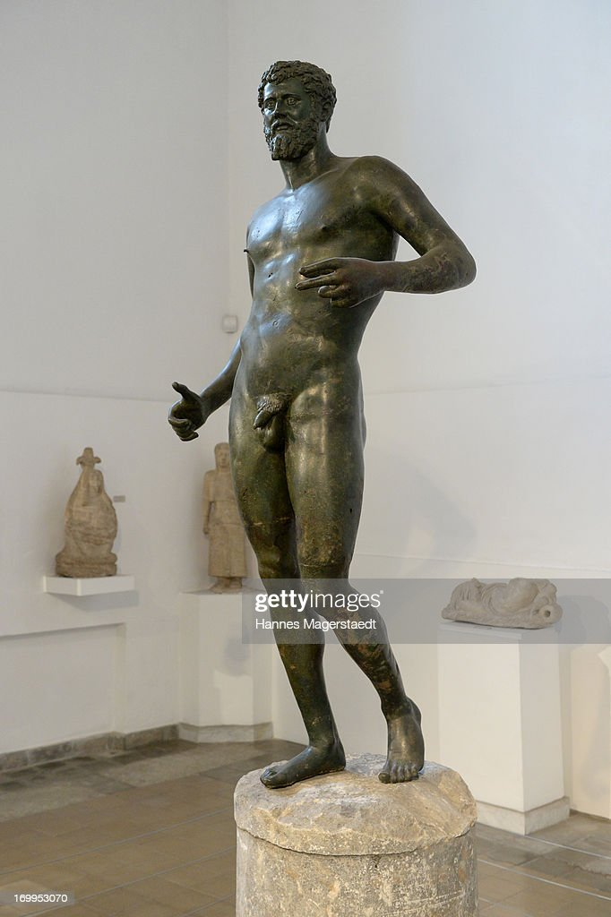 Bronze statue of Septimius Severas is seen in the archaeological Museum of Lefkosia in Nicosia on May 25 2013 in Nicosia Cyprus