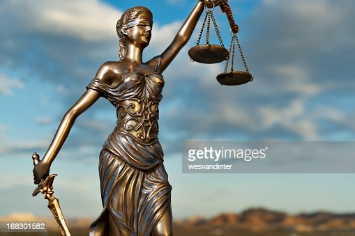 Bronze statue of Themis, goddess of justice